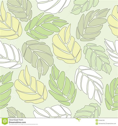 leaf pattern illustrator seamless pattern of green leaf background stock vector