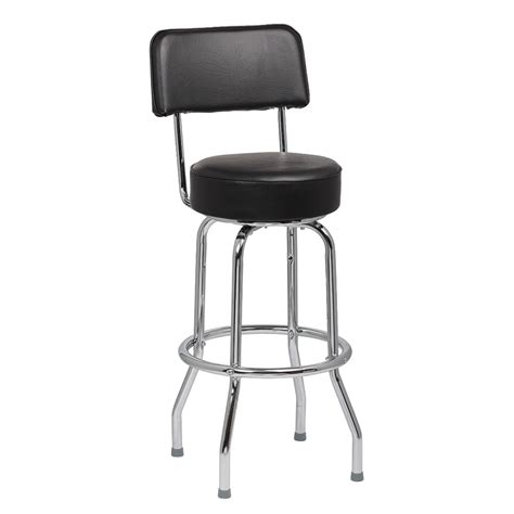 royal industries bar stools royal industries roy 7715 b open back single ring bar stool w chrome frame black upholstery