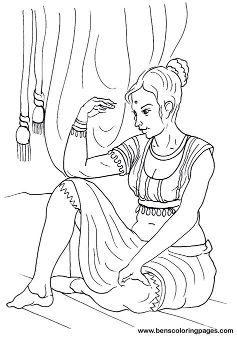 free coloring pages of indian boy