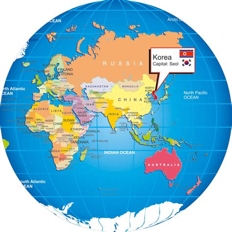 map of da world korea on world map grahamdennis me