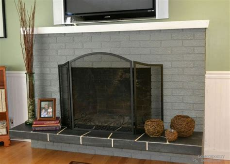 Brick And Fireplace by White And Grey Brick Fireplaces