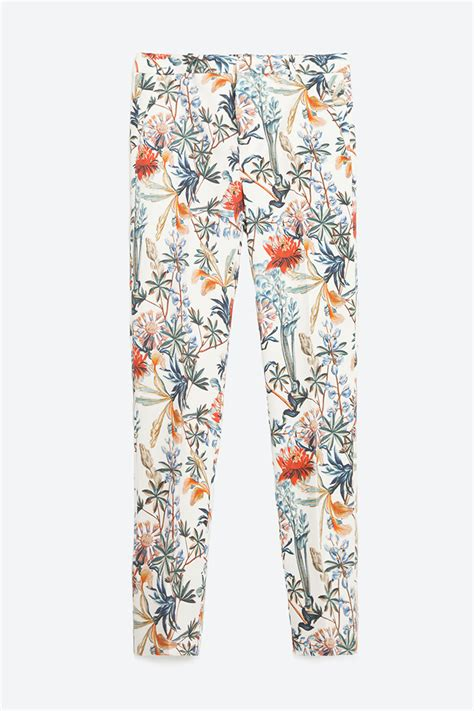 Zara Patterned Jeans | 10 best printed pants for women 2018 printed joggers and