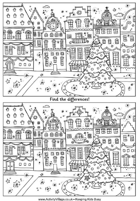 printable christmas find the difference games christmas spot the difference printables search results
