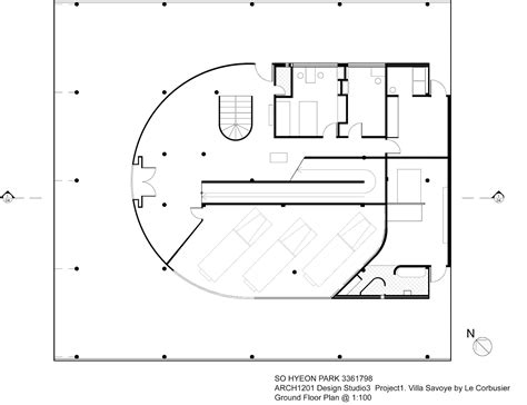 villa savoye floor plan arch1201 chloe park blog project1 villa savoye drawings