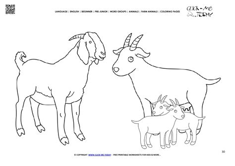 coloring sheets of goats coloring page goat family kids color picture of goats