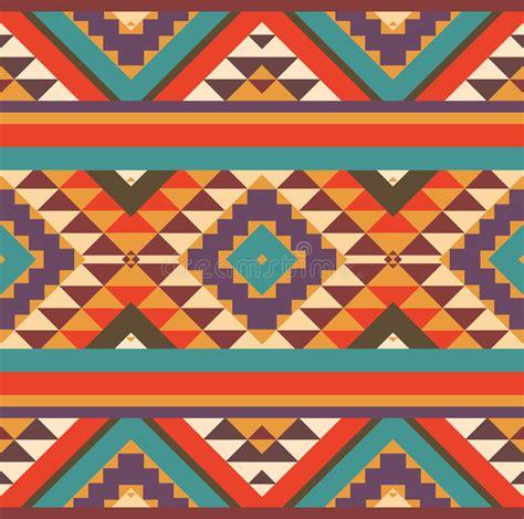 navajo pattern background seamless colorful navajo pattern stock vector