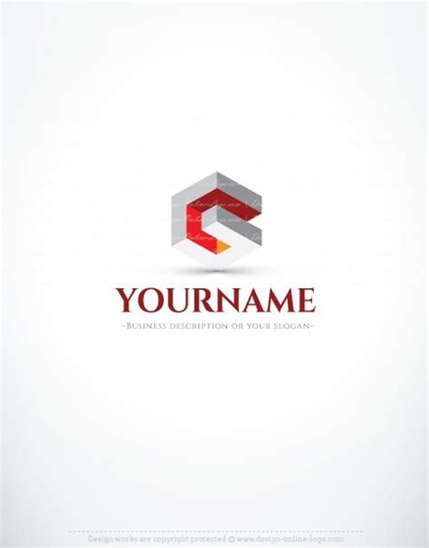 abstract 3d company logo free business card