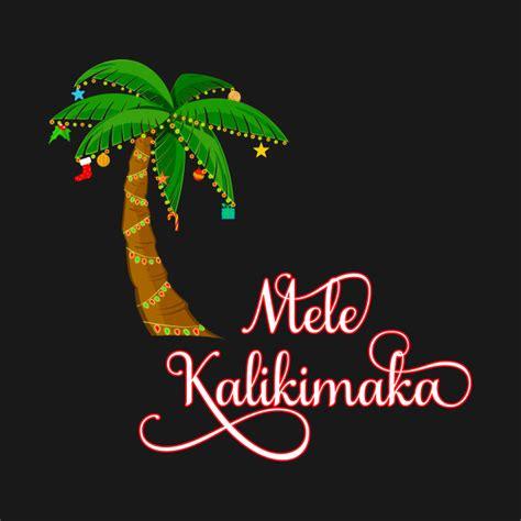 mele kalikimaka hawaiian christmas mele kalikimaka merry christmas crewneck sweatshirt