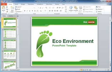 Premium And Free Renewable Energy Powerpoint Templates Environment Powerpoint Template
