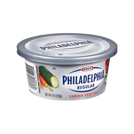 kraft philadelphia regular garden vegetable cheese