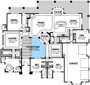 courtyard pool home plans plan 16365md center courtyard views