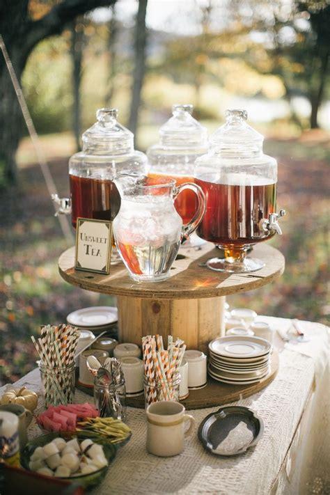 Autumn Wedding Drinks Bar // Photography ~ Emily Wren