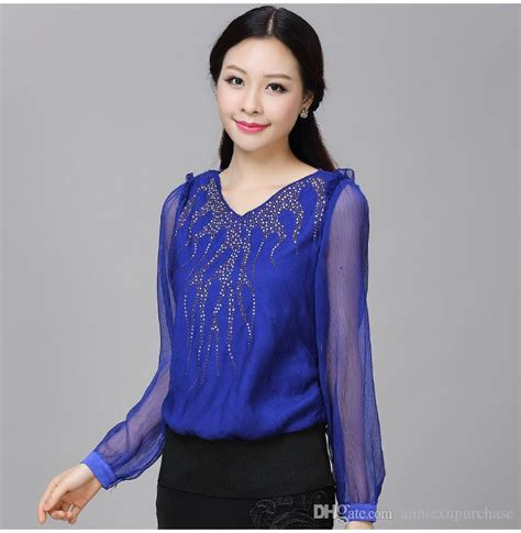 Blouse Lace Black Blue Green Atasan Renda Size S Xl blue blouses for fashion ql