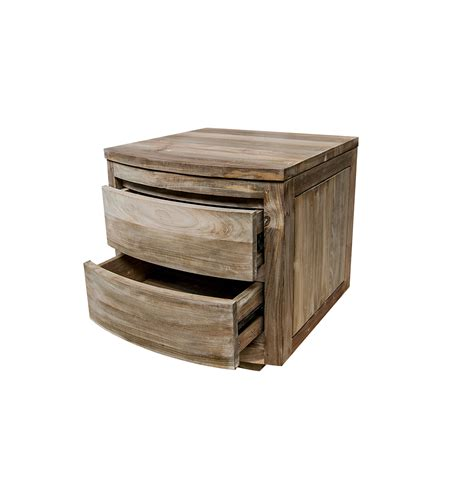 curved bedside table reclaimed wood matching pieces