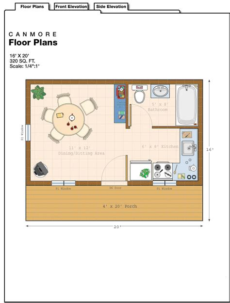 10 x 20 cabin floor plan 16 x 24 cottage plans 16x20 cabin floor plans 16 x 20