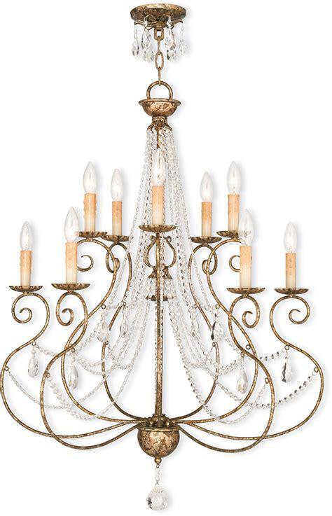 European Chandelier Livex 51909 36 Applied European Bronze Lighting Chandelier Lvx 51909 36