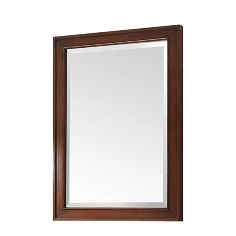 walnut bathroom mirror avanity brentwood 24 inch transitional bathroom mirror
