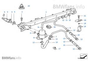Fuel System Bmw Valves Pipes Of Fuel Injection System Bmw 7 E32 735i