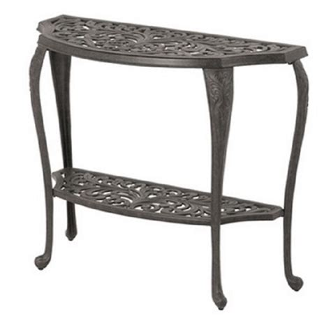 Patio Console Table Chateau By Hanamint Luxury Cast Aluminum Patio Furniture Console Table