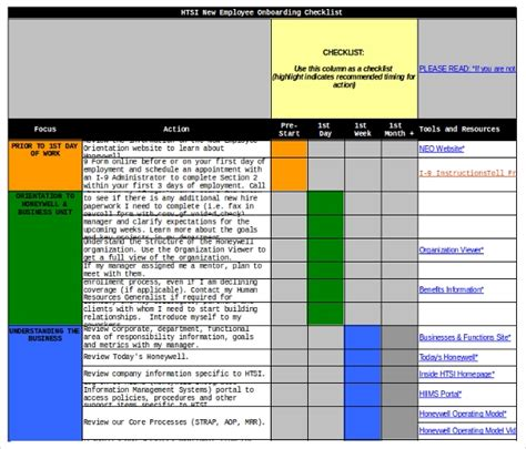 New Hire Checklist Templates 16 Free Word Excel Pdf Documents Download Free Premium New Employee Checklist Template Excel