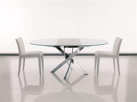 tavoli in vetro ovali tavolo ovale in cristallo barone tavolo allungabile