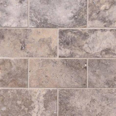 3x6 Subway Tile Kitchen Backsplash by Msi Silver Travertine 3x6 Subway Tile Backsplash