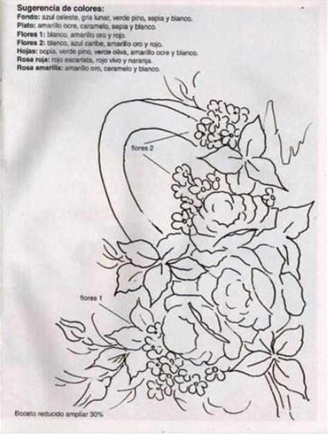 cenefas de flores para pintar en tela patrones de flores para pintar sobre tela