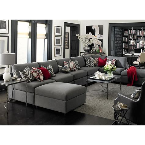 U Shaped Grey Sectional Beckham U Shaped Sectional I Really Like The Charcol Of The Sectional And The Few Accent Color