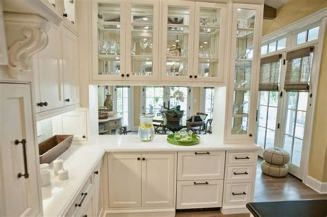 A Mix Of Functionality And Style In The Form Of Glass White Glass Door Kitchen Cabinets