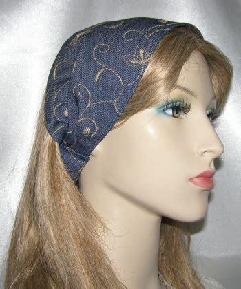 Headband Bayi Flora Denim headband hair accessories seret metzach headbands
