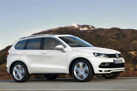 volkswagen suv volkswagen mid size suv for the us rendered autoevolution