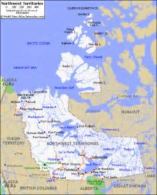 northwest territories canada map canada map of northwest territories province