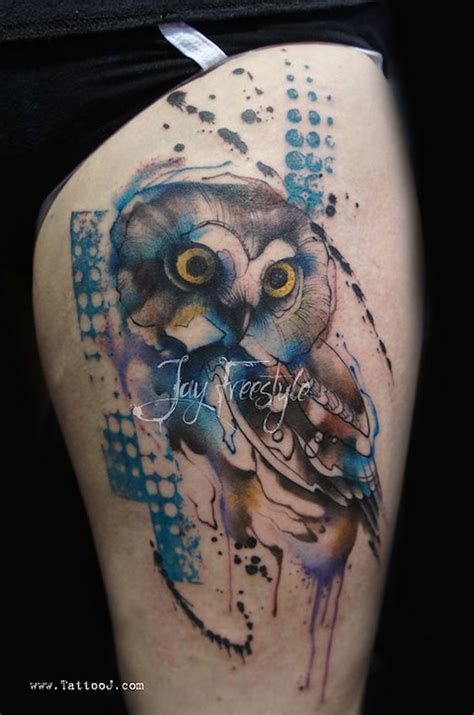 abstract owl tattoo 37 best freestyle tattoos images on