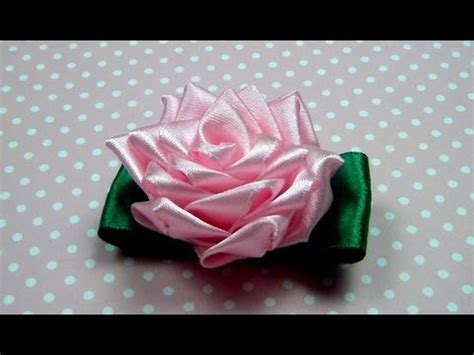 natali doma tutorial чайная роза канзаши мастер класс ribbon rose kanzashi