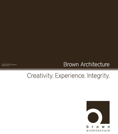 Creative Architecture Firm Names | brown architecture brochure epiksol creative