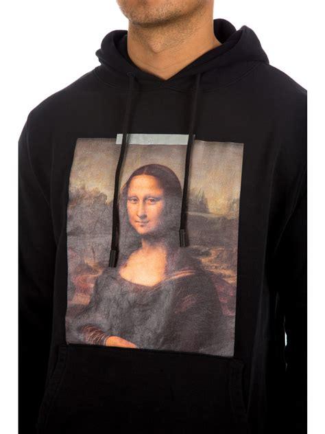 Monalisa Black white mona hoodie black credomen