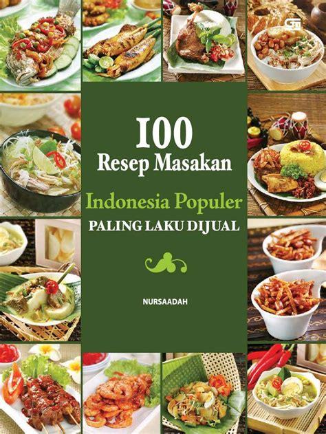 jual buku 100 resep masakan indonesia populer paling laku