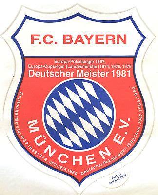 Aufkleber Rund 9 5 Cm by Grosser Autoaufkleber Fc Bayern M 252 Nchen Auto Aufkleber