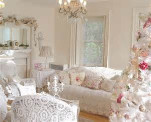 christmas living room decorating ideas shabby chic inspired using white rocking chair and white