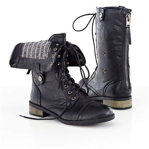 leather combat boots womens carrini s vegan leather boots