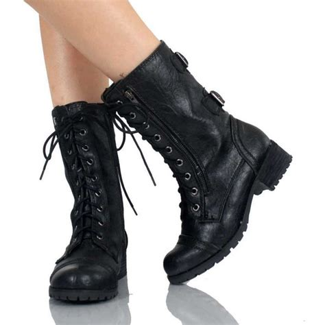 womans black boots s black combat boots