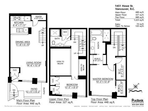 townhouse floor plan townhouse floor plans with loft two story townhouse floor