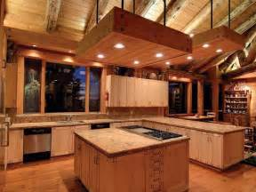 Log Kitchen Cabinets Log Cabin Kitchens With Modern And Rustic Style Homestylediary
