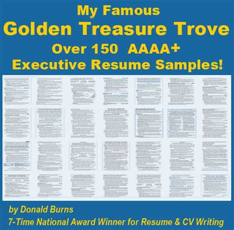 world s best collection of executive resume sles by donald burns