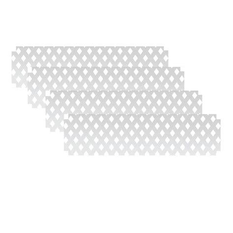 snapfence 1 ft h x 4 ft w white modular vinyl lattice