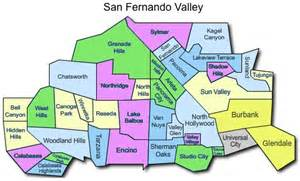 San Fernando Valley Zip Code Map by San Fernando Valley Map Images