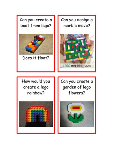 printable challenge 24 cards lego challenge cards by cf67 teaching resources tes