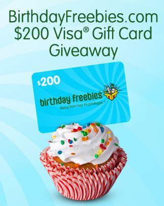 200 Visa Gift Card - birthdayfreebies com 200 visa gift card giveaway the pennywisemama