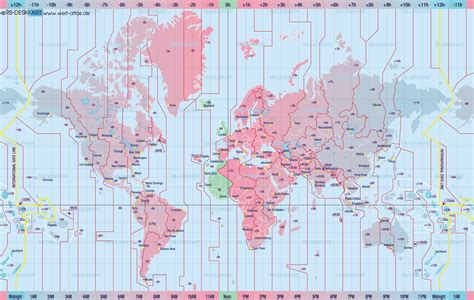 time sone map maps world map with time zones
