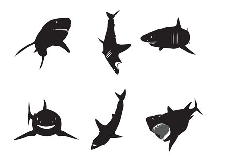 white silhouette vector great white shark silhouettes download free